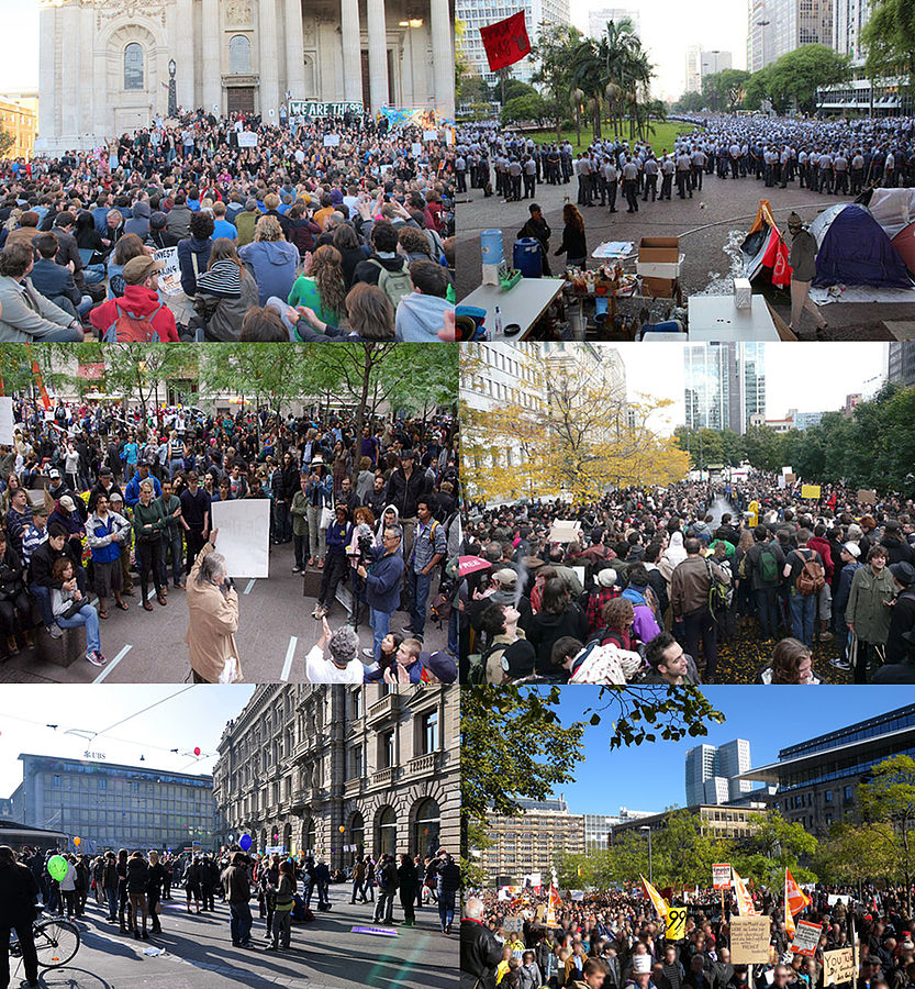 Combination of October 2011 global protests