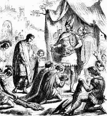 Romulus Augustulus Surrenders before Odoacer in 476 A.D. Marks the Formal End of the West Roman Empire