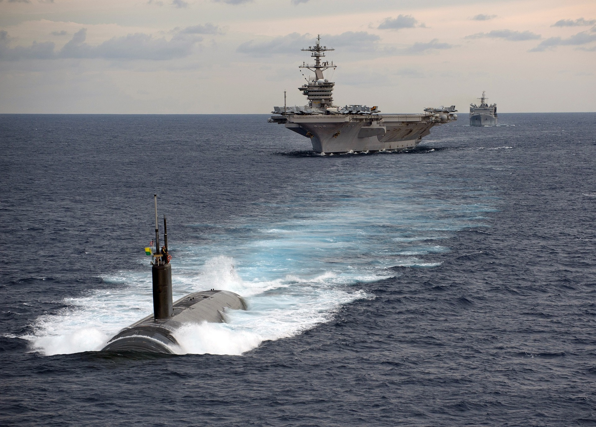 Rising and sinking of Submarines and the floating of Aircraft Carriers is based on the Archimedes' Principle